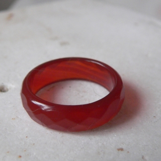 PRSTEN RED BRAZIL NATURAL AGATE ...P097